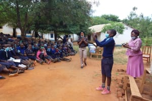The Water Project: Mbiuni Primary School -  A Demonstration