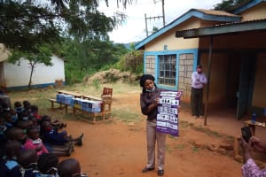 The Water Project: Mbiuni Primary School -  Covid Training