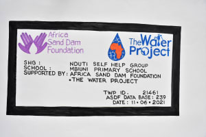 The Water Project: Mbiuni Primary School -  Dedication