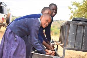 The Water Project: Mbiuni Primary School -  Handwashing