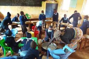 The Water Project: Mbiuni Primary School -  Stirring Soap