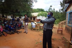 The Water Project: Mbiuni Primary School -  Teacher Tries Too