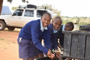 The Water Project: Mbiuni Primary School -  Happy To Be Clean