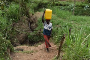 The Water Project: Mungakha Community, Mwilima Spring -  Carrying Water