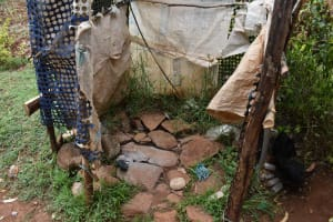 The Water Project: Mungakha Community, Mwilima Spring -  Bathing Shelter