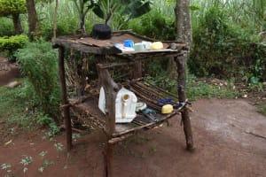 The Water Project: Mungakha Community, Mwilima Spring -  Dishrack In Sun