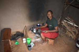 The Water Project: Mungakha Community, Mwilima Spring -  Irene Boiling Tea