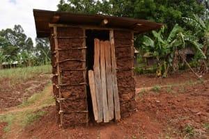 The Water Project: Mungakha Community, Mwilima Spring -  Latrine