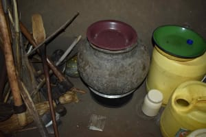 The Water Project: Mungakha Community, Mwilima Spring -  Pot To Store Drinking Water