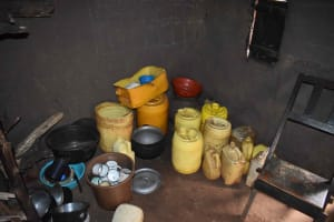 The Water Project: Mungakha Community, Mwilima Spring -  Storage Containers In Kitchen