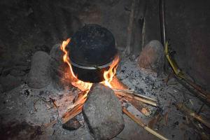 The Water Project: Mungakha Community, Mwilima Spring -  Traditional Stove