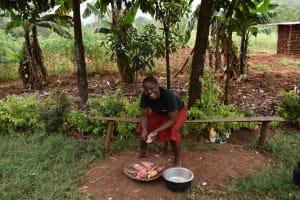 The Water Project: Mungakha Community, Mwilima Spring -  Preparing Sweet Potatoes