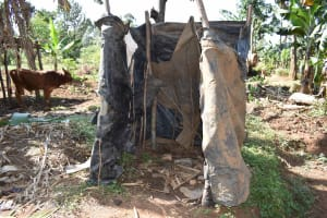 The Water Project: Muhoni Community, Kekongo Forest Spring -  Bathing Shelter