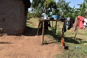 The Water Project: Muhoni Community, Kekongo Forest Spring -  Dishrack