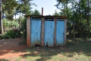 The Water Project: Muhoni Community, Kekongo Forest Spring -  Latrine