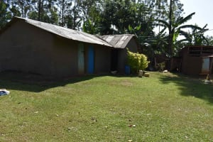 The Water Project: Muhoni Community, Kekongo Forest Spring -  Mud Walled Houses