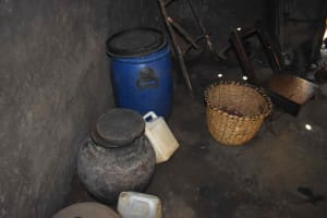 The Water Project: Muhoni Community, Kekongo Forest Spring -  Water Storage