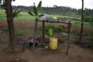 The Water Project: Chombeli Community, Ernest Kuta Spring -  Dishrack