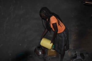 The Water Project: Chombeli Community, Ernest Kuta Spring -  Josephine Water Storage Pot