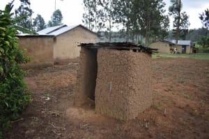 The Water Project: Chombeli Community, Ernest Kuta Spring -  Latrine