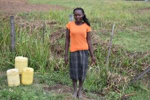 The Water Project: Chombeli Community, Ernest Kuta Spring -  Madam Josephine