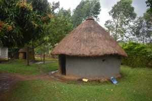 The Water Project: Chombeli Community, Ernest Kuta Spring -  Outside The Kitchen