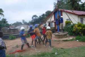 The Water Project: Shepherd Foundation, New Apostolic Church and Primary School -  Drilling