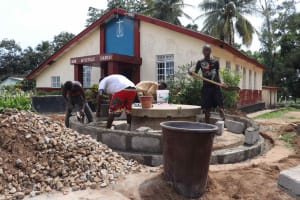 The Water Project: Shepherd Foundation, New Apostolic Church and Primary School -  Pad Construction