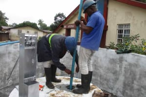 The Water Project: Shepherd Foundation, New Apostolic Church and Primary School -  Pump Installation