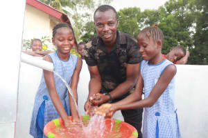 The Water Project: Shepherd Foundation, New Apostolic Church and Primary School -  Students And Mr Abubakarr Bangura