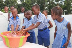 The Water Project: Shepherd Foundation, New Apostolic Church and Primary School -  Students Joyfully