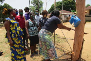 The Water Project: Shepherd Foundation, New Apostolic Church and Primary School -  Handwashing With Tippy Tap