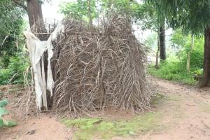 The Water Project: Rosint, Cassava Farm, Makuta Oil Palm Garden -  Bath Shelter