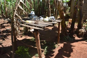 The Water Project: Muting'ong'o Community, Chivuyi Spring -  Dishrack