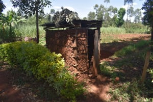 The Water Project: Muting'ong'o Community, Chivuyi Spring -  Latrine