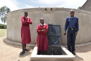 The Water Project: Gimariani Primary School -  Students At The Tank