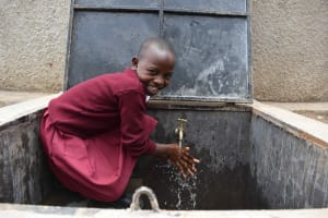 The Water Project: Gimariani Primary School -  Students Celebrating