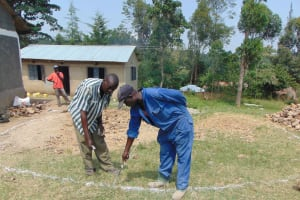 The Water Project: Gimariani Primary School -  Site Measurement For Excavation