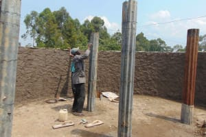 The Water Project: Gimariani Primary School -  Pillar Placement