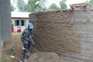 The Water Project: Gimariani Primary School -  Outside Plastering