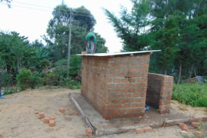 The Water Project: Gimariani Primary School -  Latrine Roofing