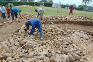 The Water Project: Gimariani Primary School -  Stone Filling