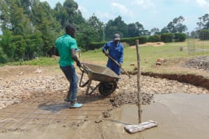 The Water Project: Gimariani Primary School -  Casting Of Slab