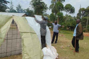 The Water Project: Gimariani Primary School -  Sack Placement