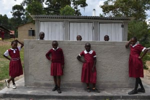 The Water Project: Gimariani Primary School -  Students At The Latrines