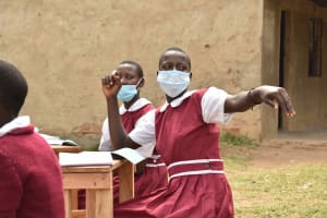 The Water Project: Gimariani Primary School -  Dorcas Answers Question