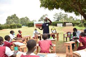 The Water Project: Gimariani Primary School -  Learning About Bathing