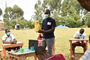 The Water Project: Gimariani Primary School -  Training On Water Containers