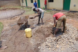 The Water Project: Ebukuya Special School for the Deaf -  Community Members Participating