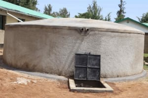 The Water Project: Ebukuya Special School for the Deaf -  Complete Water Tank